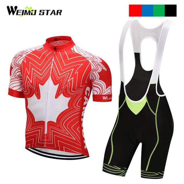 772fb9dfe Canada Shirt Cycling jersey Weimostar Cycling Clothing Summer Outdoor Bike  Jersey ropa ciclismo Bib Shorts cycling