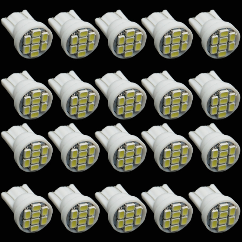 CQD-Light 20PCS white 1206/3020 smd T10 8 smd 8smd 8led led 194 168 192 W5W super bright Auto led car lighting wedge,new white color t10 led 8 smd 1206 8leds 8smd car interior light 194 168 192 w5w 3020 auto wedge lighting dc 12v clearance lights