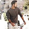 Simwood 2017 nova primavera t camisas de manga longa homens 100% marca de moda de algodão puro clothing slim fit plus size tl3512