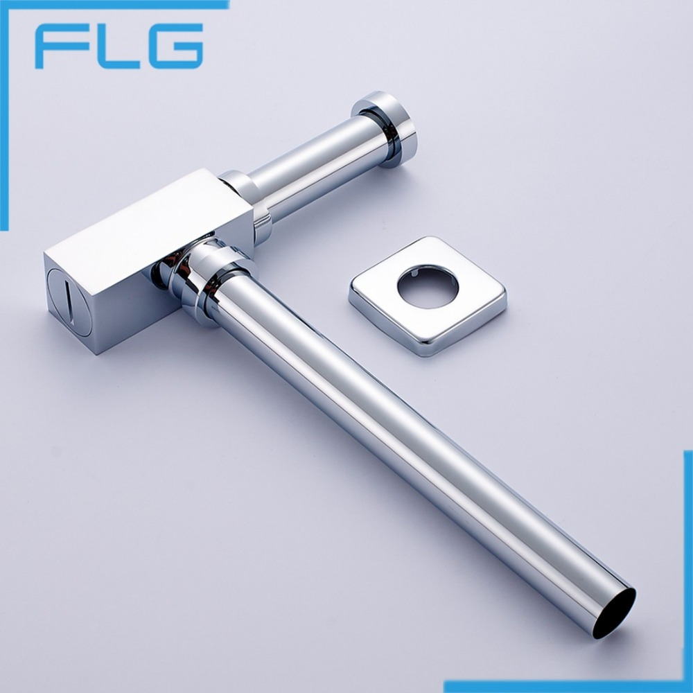 FLG Brass Bottle Trap Bathroom Sink Vanity Basin Pipe Waste Drain Pipe Siphon Drainer P-Trap new designed antique brass bamboo arts bathroom basin sink drain pop up waste vanity with overflow