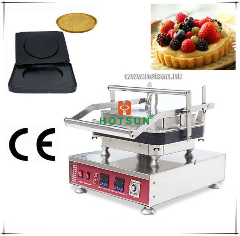 Free Shipping Professional Non-stick 110V 220V Electric 1pcs Big Round Circle Waffle Maker Machine with Removable Plate free shipping professional non stick 110v 220v electric 12pcs round circle waffle cake maker machine with removable plate