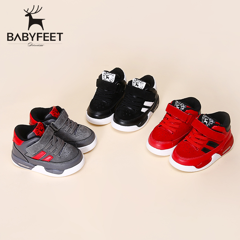 Babyfeet 2017 Winter children shoes fashion warm Suede leather sport running school tenis girl infant boys sneakers flat loafers 2017 new autumn winter children pu leather sport running shoes for little boys big boys male fashion sneakers boys casual shoes