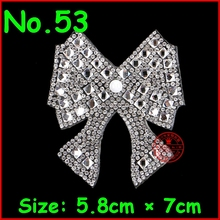 3 pcs/Lot Shiny Bow High quality flat hotfix rhinestone,heat transfer iron on rhinestone applique Motifs Crystal Diy Accessories