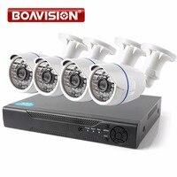 BOAVISION 4CH 1080 P AHD DVR Système Kit 2000TVL HD En Plein Air Sécurité Système de caméra Bullet 4 Canaux CCTV DVR Kit AHD Caméra Ensemble