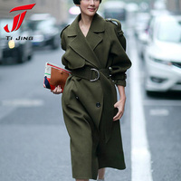 COOL GREEN 2016 New Design Winter Coat Women Wool Coat Trench Oversize Warm Women S Coat