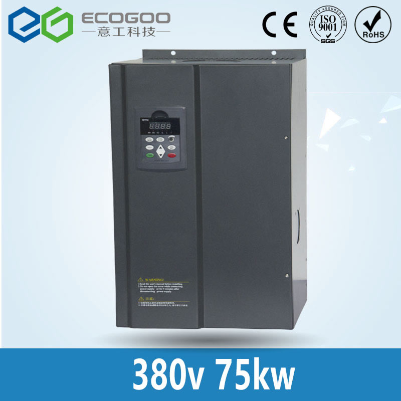 цена на 75KW Crane Inverter /3 Phase 380V/150A Free Shipping-Shenzhen EG vector control 75KW Frequency inverter