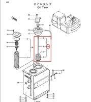 EX120 3 Hydraulic Oil Filter 42256202 for Hitachi Excavator 3 month warranty