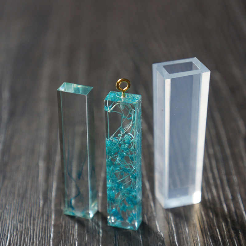 REGELIN Geométricas moldes 1 pcs Líquido molde de silicone DIY molde de resina pingente de colar de jóias pingente de lanugo moldes de resina para a jóia