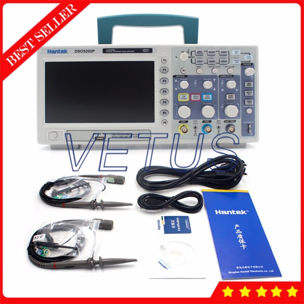 Hantek DSO5202P 200MHz 2 Channels 1GSa/s Digital osciloscopio with usb oscilloscope portable Scopemeter