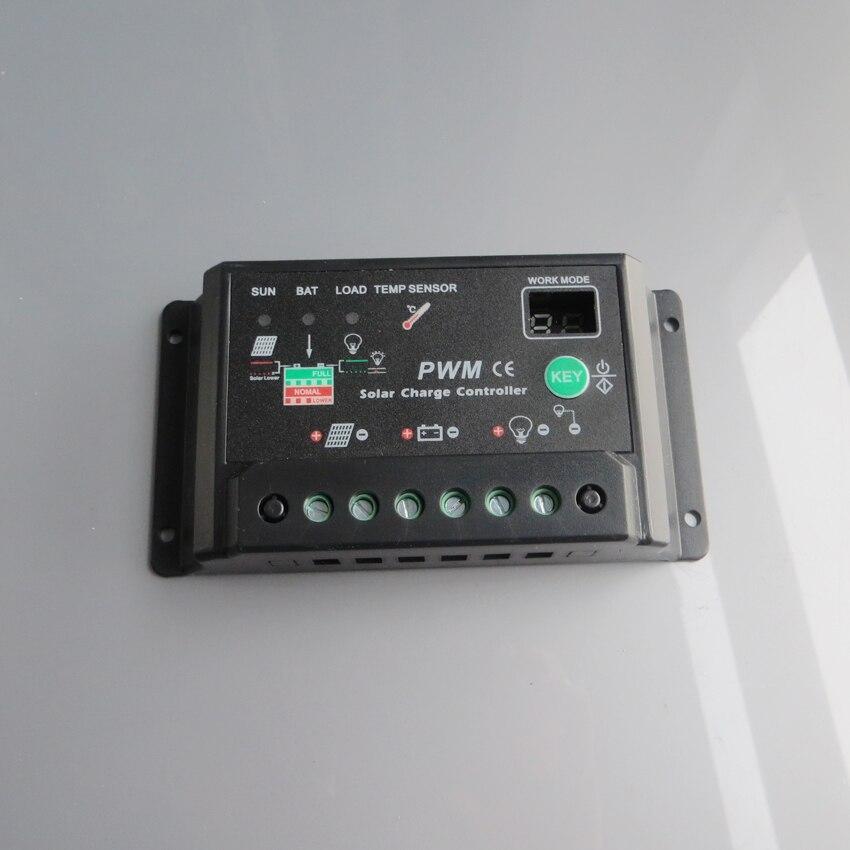 10A 12 V 24 V Auto intelligence Solaire Régulateurs Contrôleur de Charge de La Batterie Cellulaire solaire lumière lampes solaire accueil système