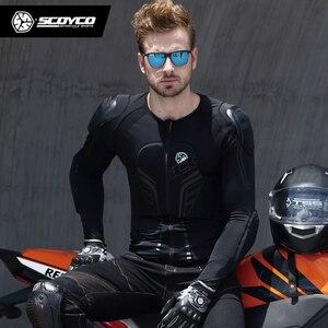 Image 5 - SCOYCO motocykl kurtka ochronny sprzęt Motocross ochrona Moto kurtka pancerz motocyklowy wyścigi kamizelka kuloodporna czarny Moto pancerz