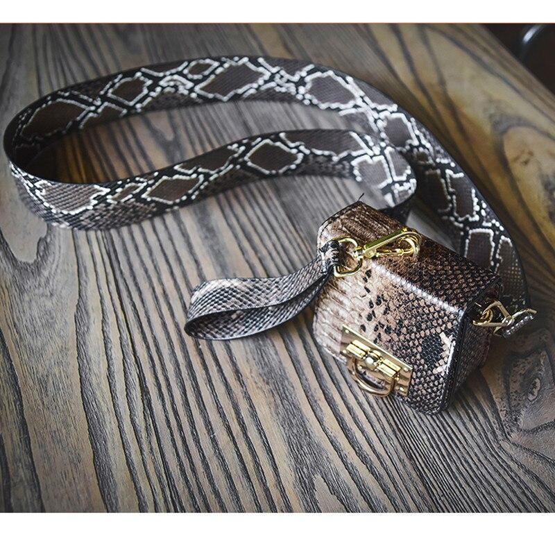 Ukqling marca mini bolso patrón de serpentina bolso del bolso de las señoras emb