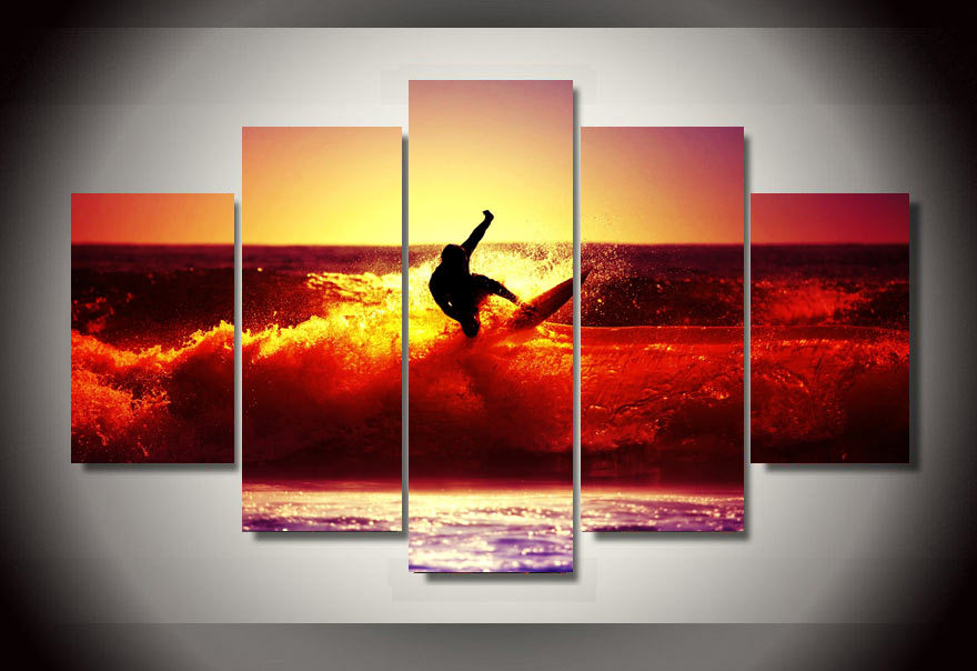 5 Panels Modern Home Decorative Poster Pictures For Living