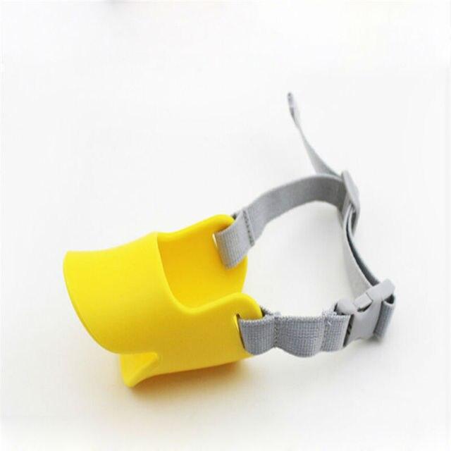 Novelty Dog Mask Muzzle Silicone Cute Duck Mouth Design Bark Bite stop Dog Anti-bite Masks For Dog Muzzle 20S1