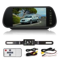 New 7 Inch LCD Rearview Mirror Display Monitor Night Vision Reverse Camera Remote Control Car Reverse