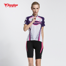 Tasdan Womens Cycling Jersey Sets Spring Summer Shorts Suits MTB ports Gear