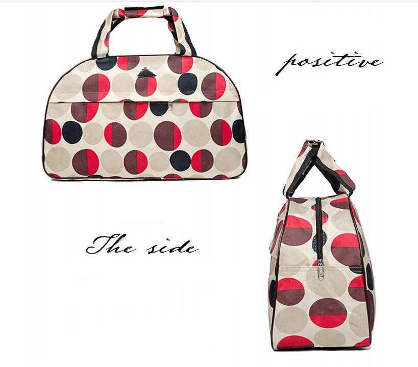 Women Waterproof Nylon Business Trip Short Travel Bags Men Organizer Duffel Tote Bag Ladies Solid Weekend Bag Luggage Package