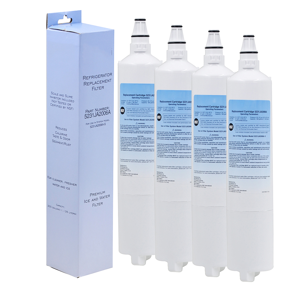 High Quality Household Water Purifier Refrigerator Water Filter Replacement for LG LT600P, 5231JA2005A, 5231JA2006 4 Pcs/lot lg lt600p compatible refrigerator water filter by clear sip