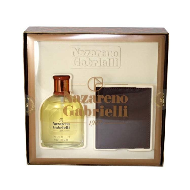 NAZARENO GABRIELLI by Nazareno Gabrielli for Men 2 PC. GIFT SET ( EAU DE TOILETTE SPRAY 3.4 oz + WALLET )