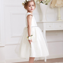 2016 A-line Hot Sale Dress Summer High-grade Wedding Dresses Children Embroidered Party Dresse Bridesmaid Kids Clothes 90-130cm