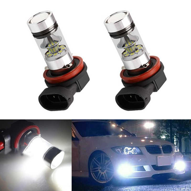 2x H11 LED canbus 3030 Bulbs Reflector Mirror Design For Fog Lights For BMW E39 325 328 M mini SPORT