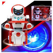 Electric voice-activated robot model Intelligent induction Children's toys Early childhood music Learning machine kid robot toys(China)