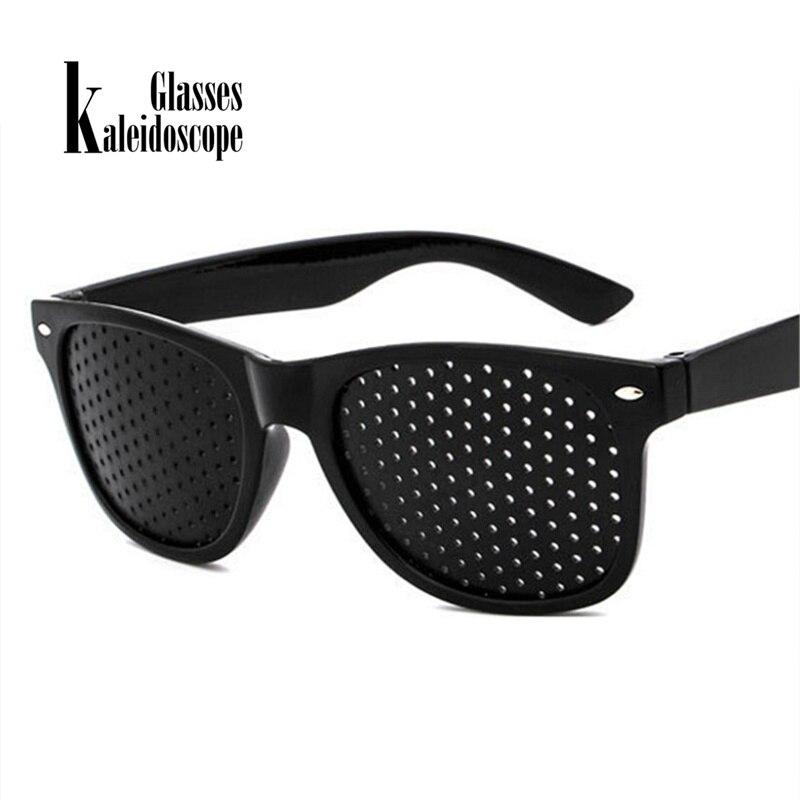 Kaleidoscope Glasses Men Exercise Vision PinholeGlasses Pinhole Eyewear Eyesight Anti-myopia Pin hole Sunglasses