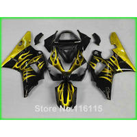 plastic fairings set for YAMAHA R1 2000 2001 yellow flames black fairing kit YZF R1 00 01 body kits Injection molding 3177