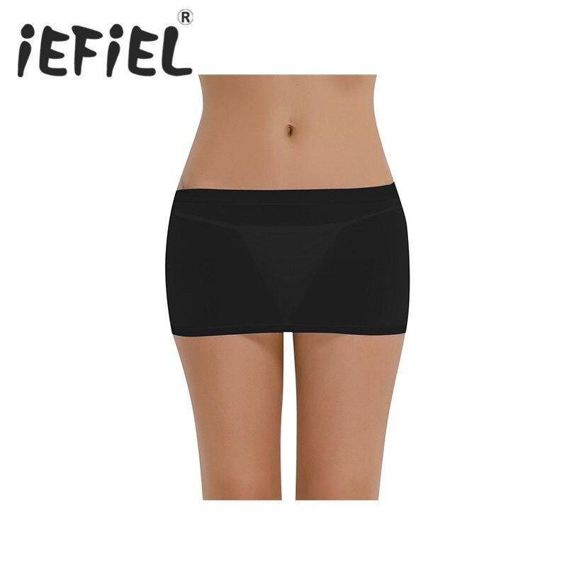 iEFiEL New Sexy Women Female See-through Sheer Mini Skirt Party Nightwear Clubwear Skirt Dancing Slim Nightwear Bodycon Clothes
