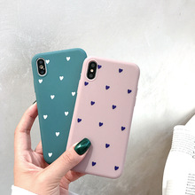 Love Heart Pattern Phone Case For iphone 6 6S 7 8 Plus Case For iphone XS Max XR X Back Cover Soft TPU Silicone Simple Cases zh01 love heart pattern led flash light color changing protective abs back case for iphone 4 4s