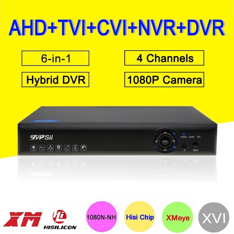 Blue-Ray Hi3520D цифровой видеомагнитофон xmeye 4 канала 4CH 25fps 1080 P/1080N/960 P/720 P 5 в 1 Гибридный CVI TVi NVR аналоговая камера высокого разрешения, система видео...