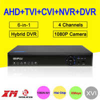 Blue-Ray Hi3520D XMeye DVR 4 Channel 4CH 25fps 1080P/1080N/960P/720P 5 in 1 Hybrid CVI TVi NVR AHD CCTV DVR Free shipping