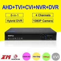 Blue Ray Hi3520D XMeye DVR 4 Channel 4CH 25fps 1080P/1080N/960P/720P 5 in 1 Hybrid CVI TVi NVR AHD CCTV DVR Free shipping