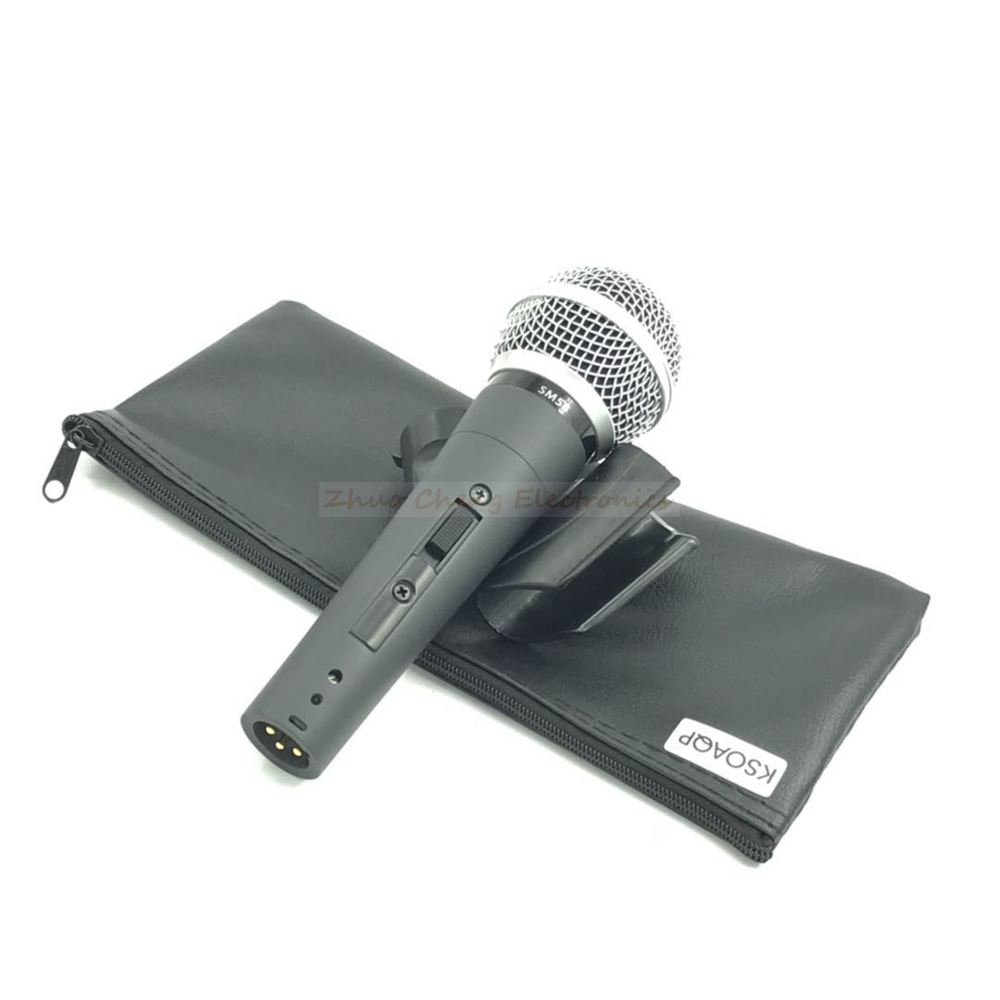 KSOAQP 3PCS Top Quality Real Transformer SM 58LC 58S 58SK Dynamic Handheld Karaoke Wired Microphone Mike