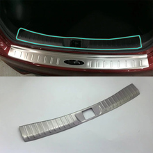 for toyota c hr 2016 2017 stainless steel rear bottom bumper protector guard plate trim 1pcs car styling accessories Car Accessories Interior Stainless Rear Inner Bumper Protector Plate Cover Trim For Nissan Tiida 2016 Car Styling