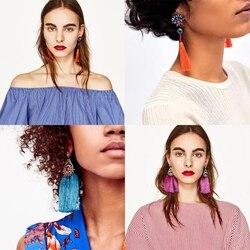 Dvacaman ethnic exaggerate tassel earrings for women vintage long fringe drop earring indian handmade pendientes jewelry.jpg 250x250