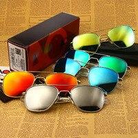 Fashion Brand Designer Sunglasses Men Woman American Army Military Pilot AO Sun Glasses Male Colour Glass Lens de sol OP55 OP57