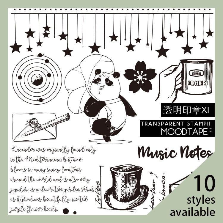 moodtape vintage clear stamp for DIY scrapbooking/photo album Decorative transparent stamp label Pan