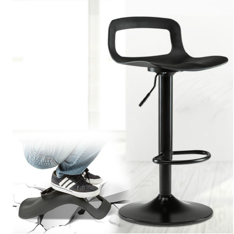 Bar Furniture 2pcs European Bar Stool Lift Rotating Bar Chair Cash Register High Stool Home Beauty Front Back Stool