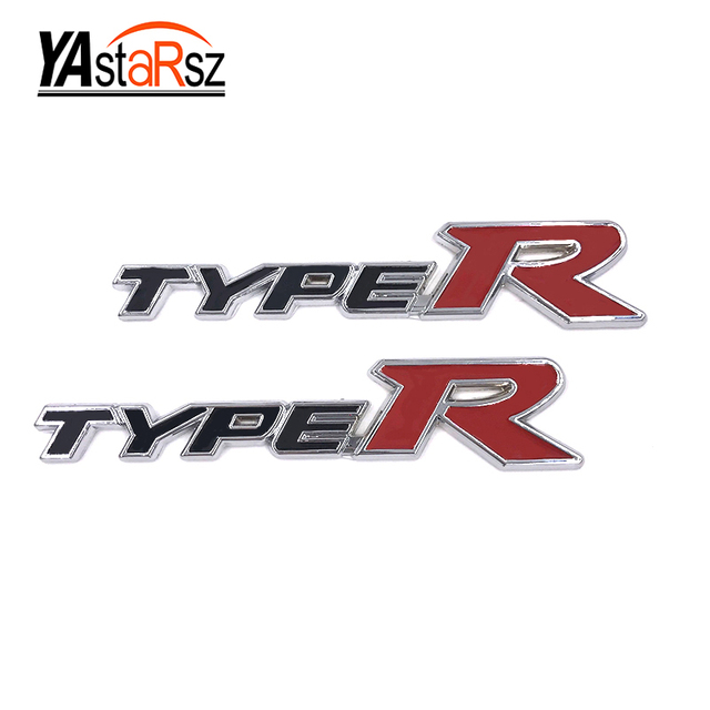 2016 car styling 3d typer type r racing emblem badge logo decal sticker stickers for honda