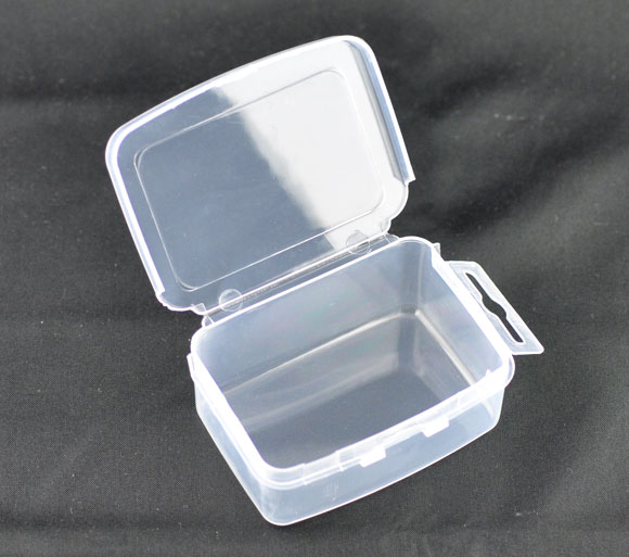 Plastic Storage Containers Rectangle Transparent 7.3cm(2 7/8