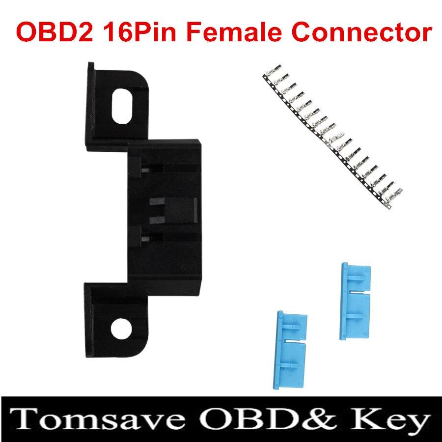 Цена за Бесплатная доставка 20 шт./лот OBD2 16 Булавки разъем универсальный OBD2 16 Булавки женский кабель преобразовать старый автомобиль Fit с OBD2 инструмент