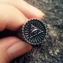 цена Vintage Masonic Eye of Providence Stainless Steel Ring Freemasonry Biker Rings Mens Jewelry