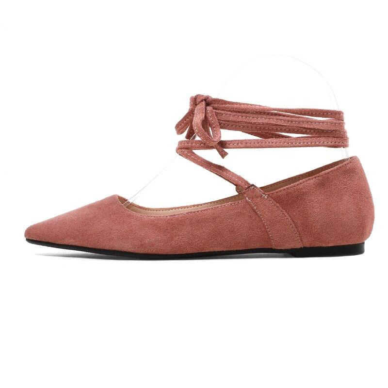 7e4309e7d71 JK Big Size 2018 Fashion Women Ballet Flats Spring Pointed Toe ...