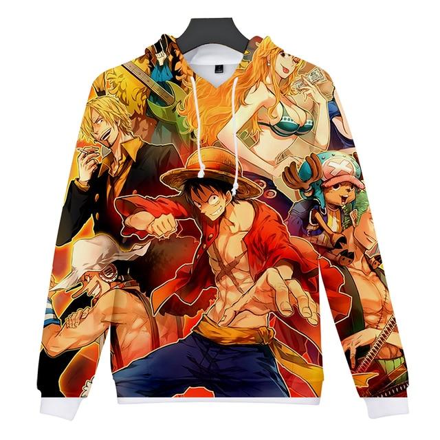 One Piece 3D Full Print Hoodies Sweatshirt