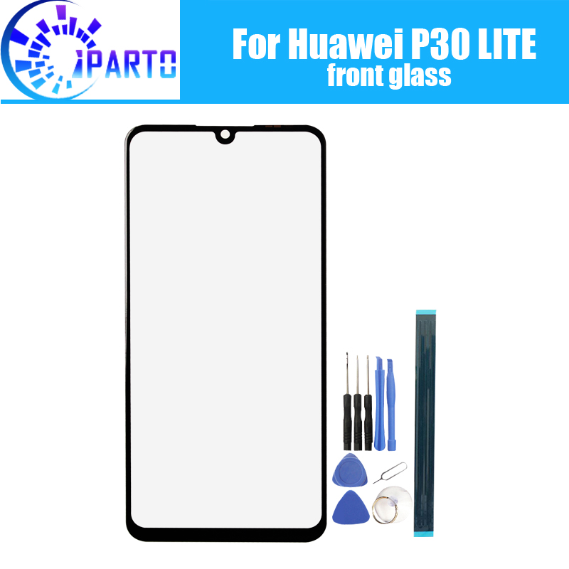 For Huawei P30 LITE Front Glass Screen Lens 100% Original Front Touch Screen Glass Outer Lens For P30 LITE Phone+Tools