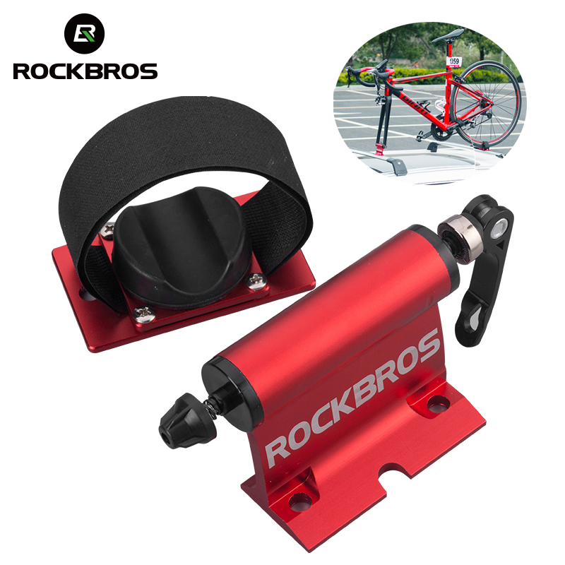 цена на ROCKBROS Bike Bicycle Car Rack Carrier Quick-release Alloy Fork Bicycle Block Mount Rack For MTB Road Bike Bicycle Accessories