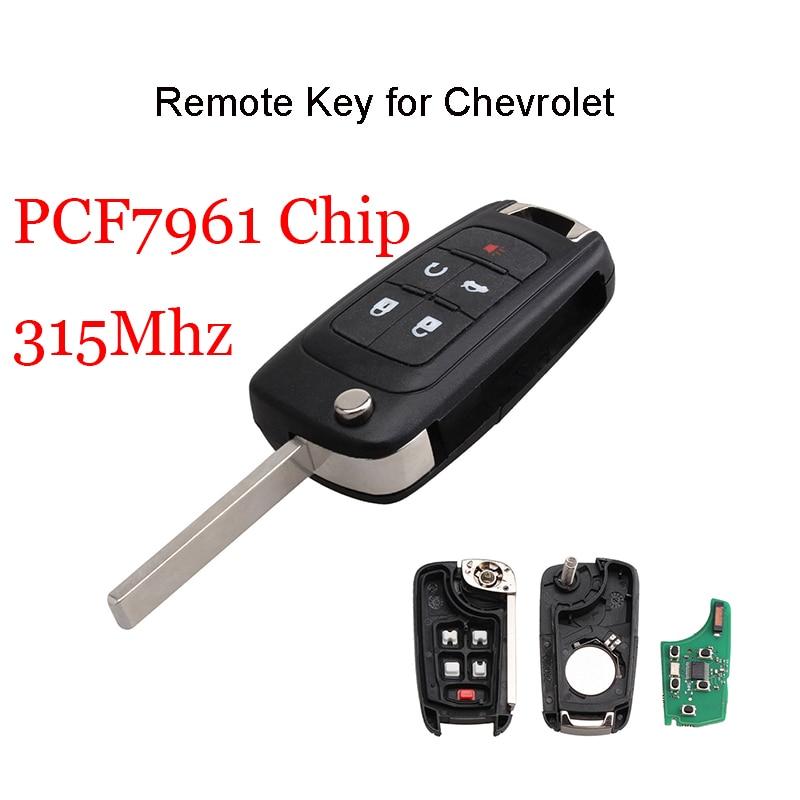 315Mhz  PCF7941 Chip Remote Key for Chevrolet Cruze Malibu Camaro Equinox Sonic Aveo Orlando Volt 5 Buttons HU100 blade315Mhz  PCF7941 Chip Remote Key for Chevrolet Cruze Malibu Camaro Equinox Sonic Aveo Orlando Volt 5 Buttons HU100 blade