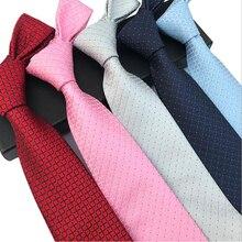 цена на 20 Styles Men's Business Suit Ties Gravatas Sold Color Polka Dots Red Pink Blue Silver New Silk Neckties for Man Women Neck Tie