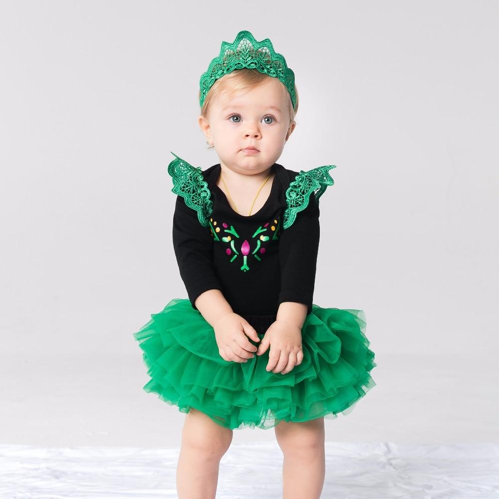 YK & Loving Hot Boutique Prinses Meisje Kleding Korte mouw Groen Baby - Babykleding